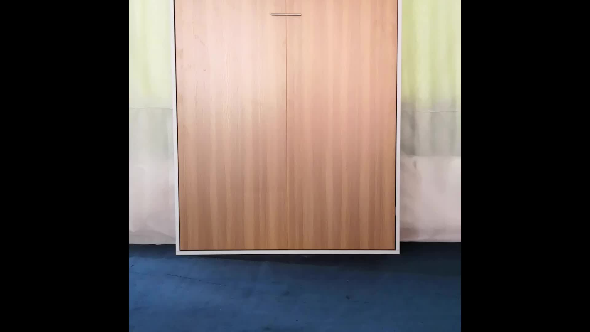 Smart Design Space- Saving Hidden Wall Murphy Bed Open by Motor DJ-WD02