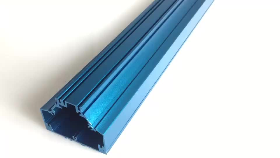 Customized OEM high precision aluminum anode product with blue anodizing cnc machining part