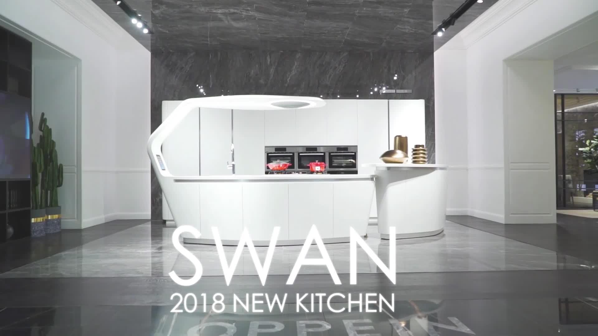 OPPEIN Australian Style 2 pac painting door modern white kitchen cabinets