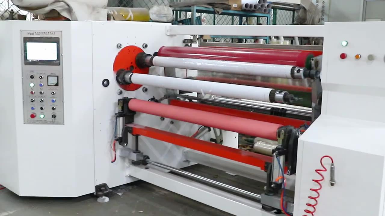 YU-802 Double shaft automatic foil film adhesive tape rewinding machine