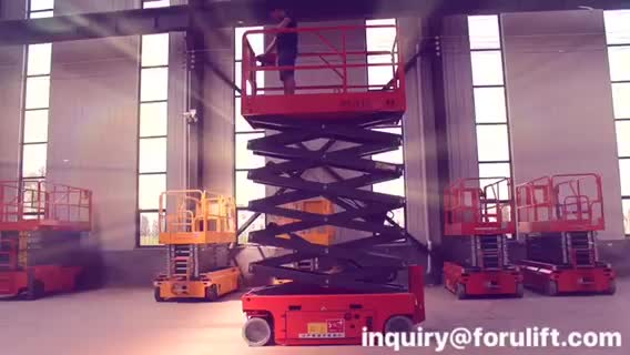 6m 300kg High quality electric scissors aerial working lift platform