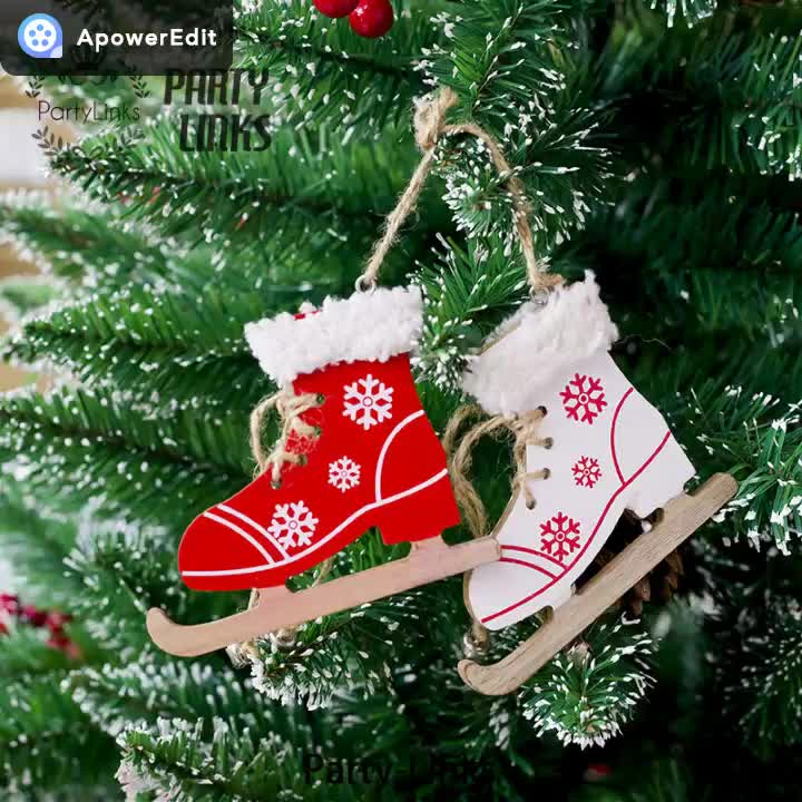 Yiwu Christmas Tree Creative Coloured Drawing Decoration Hanger Stereoscopic Splits Of Christmas Wooden Card Ornaments