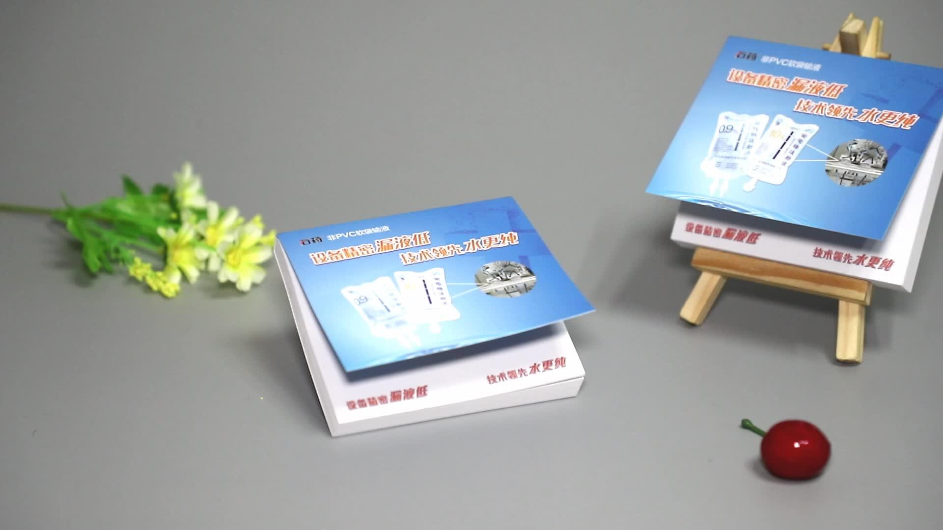 Groothandel best selling desktop kalender notitie met lederen doos