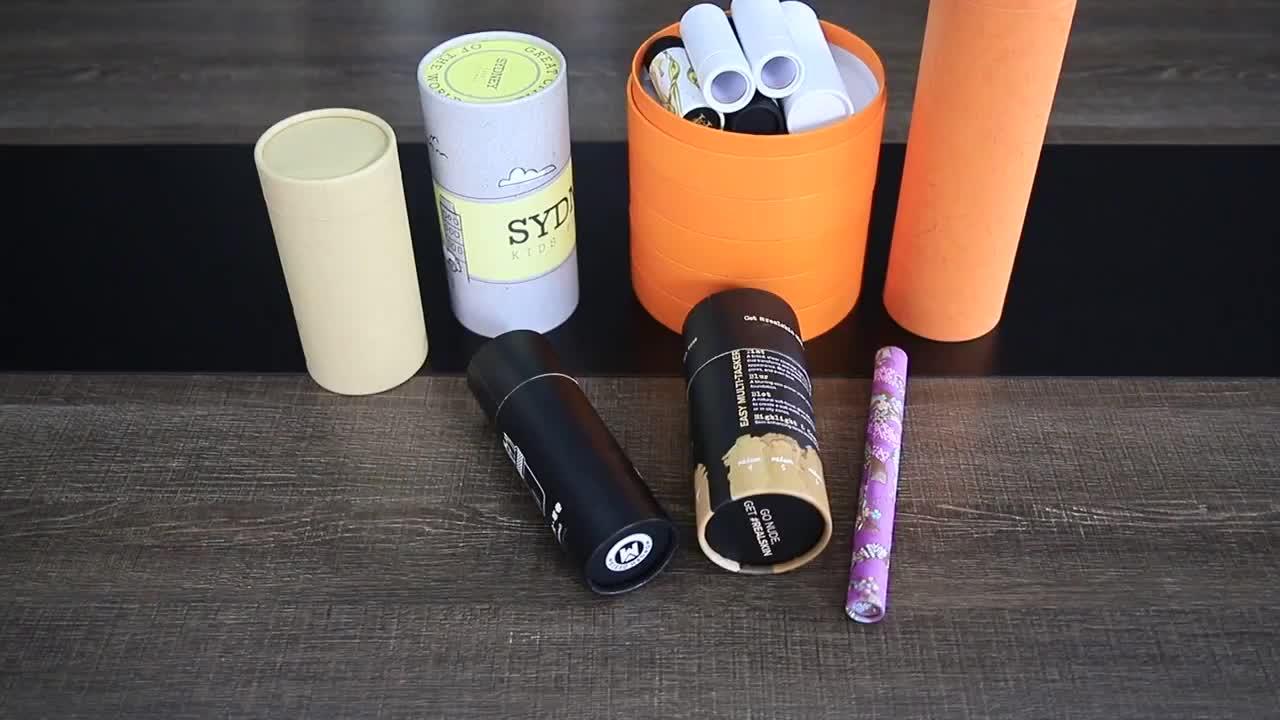 custom design lip balm tube paper eco friendly packaging cardboard tube