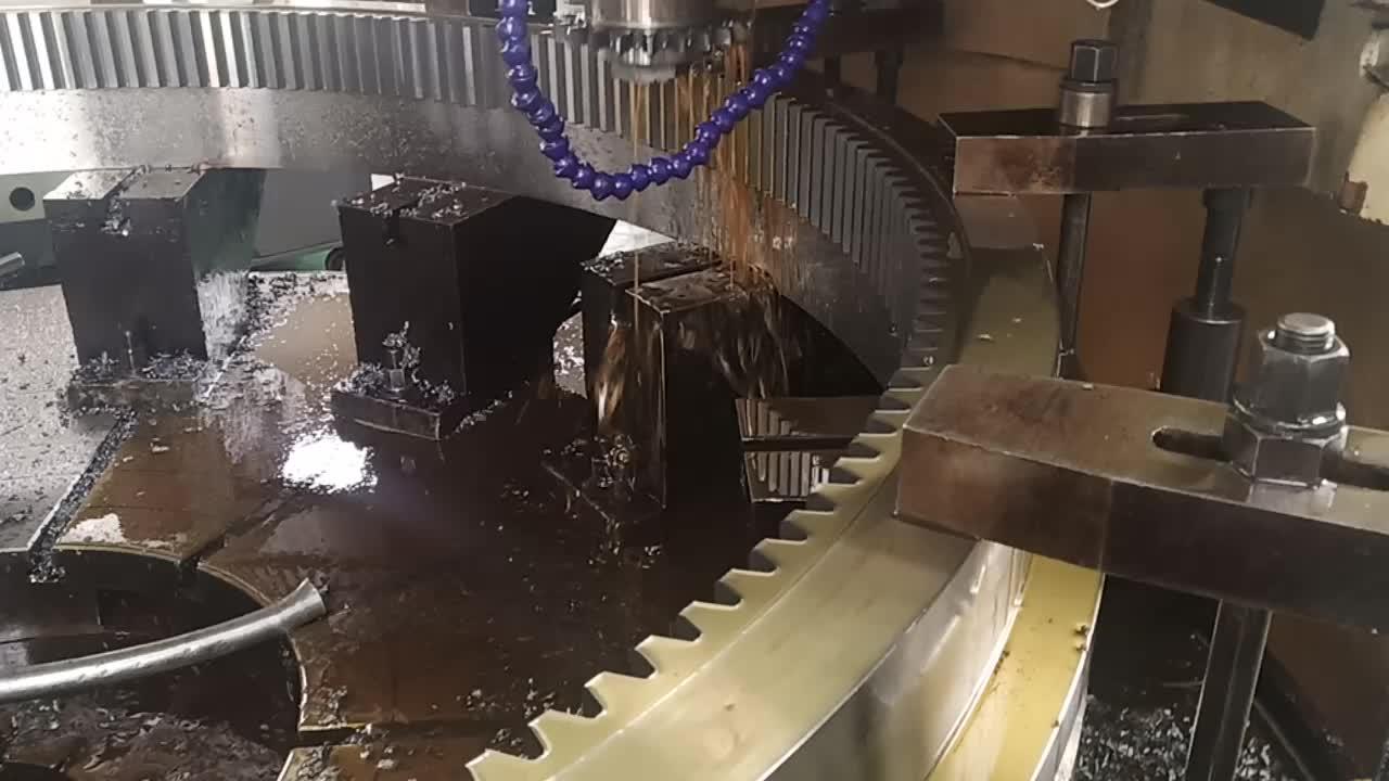 สำหรับ liebherr excavator slew แบริ่ง marine crane slewing แหวนเกียร์หน้าแปลนสำหรับ volvo excavator swing แบริ่ง