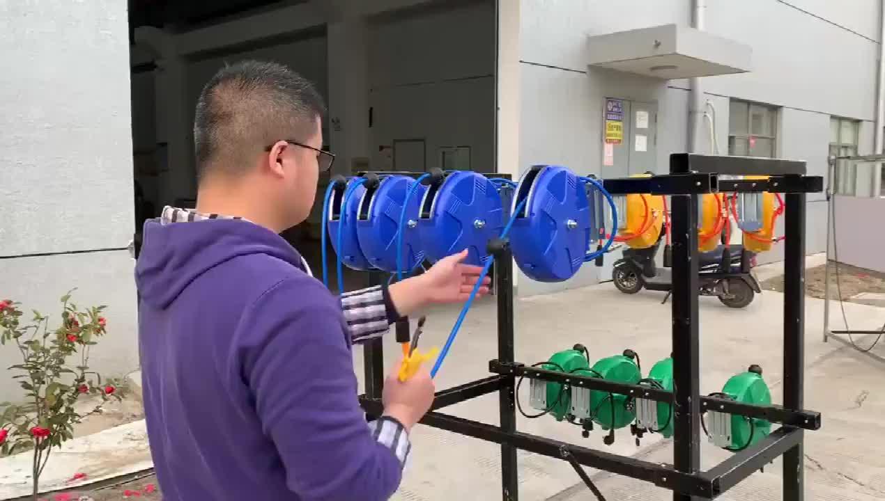 공장 직접 판매 pe 파이프 음료 abs 플라스틱 정원 10 M 12 m 15 m 미터 자동차 공기 워시 호스 릴