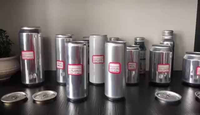 Personalizzato in alluminio bevanda lattine vuote per in scatola avocado di alluminio 250 ml barattolo di latta sottile produttore
