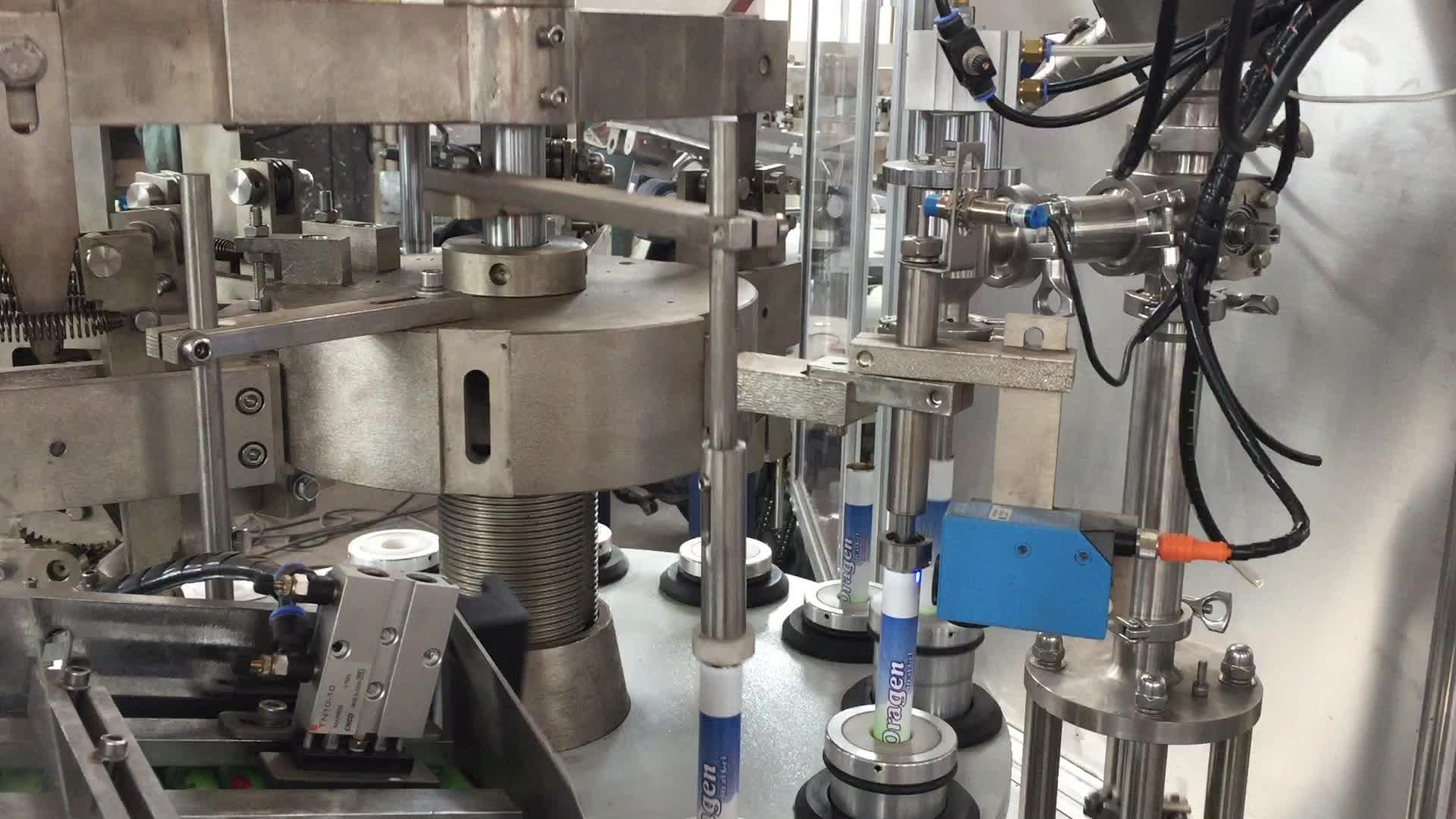Automatic aluminium tube filling sealing machine for 502 liquid glue tube filler and sealer