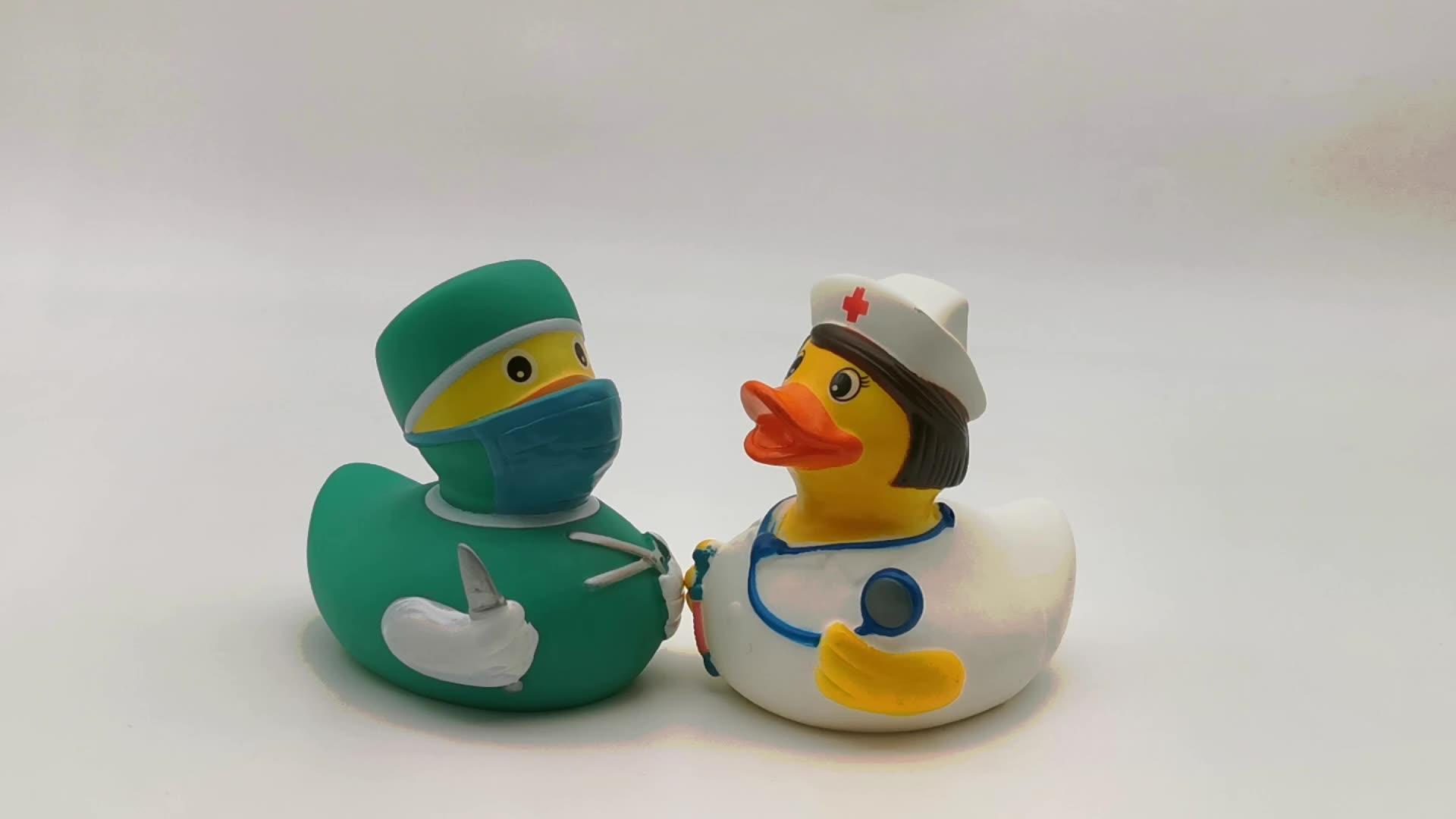 Одежда высшего качества плавающие утки винил доктор утка детские для ванной игрушечные лошадки aunty для ванной утка