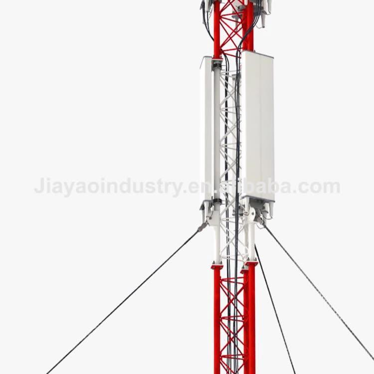 10 футов секций Натяжная проволока поднимается стали Горячая окунутая гальванизированная 28 м интернет радио башни для продажи