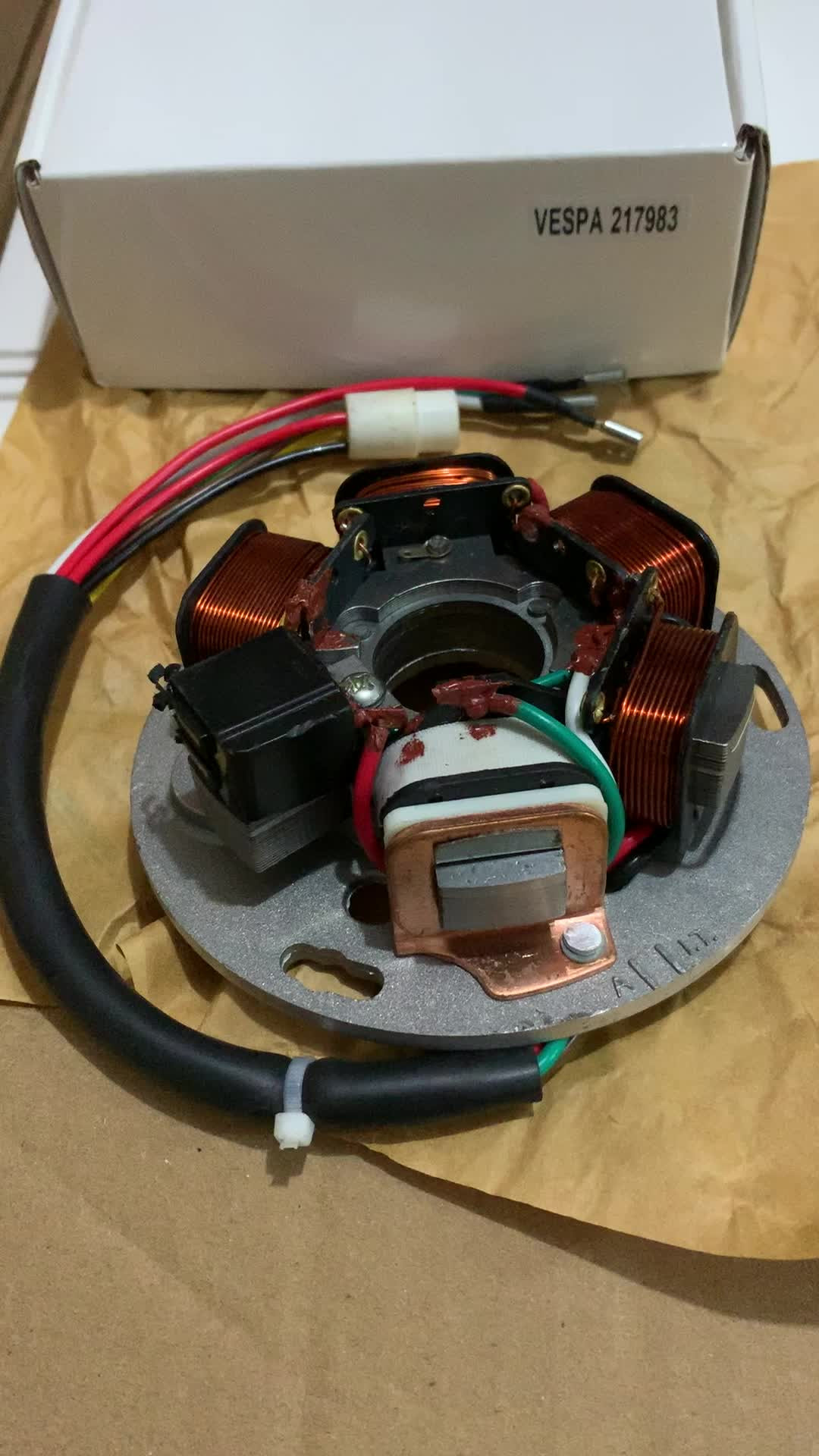 217983 Stator 7 Wire Vespa Px 150 And Rainbow Electric