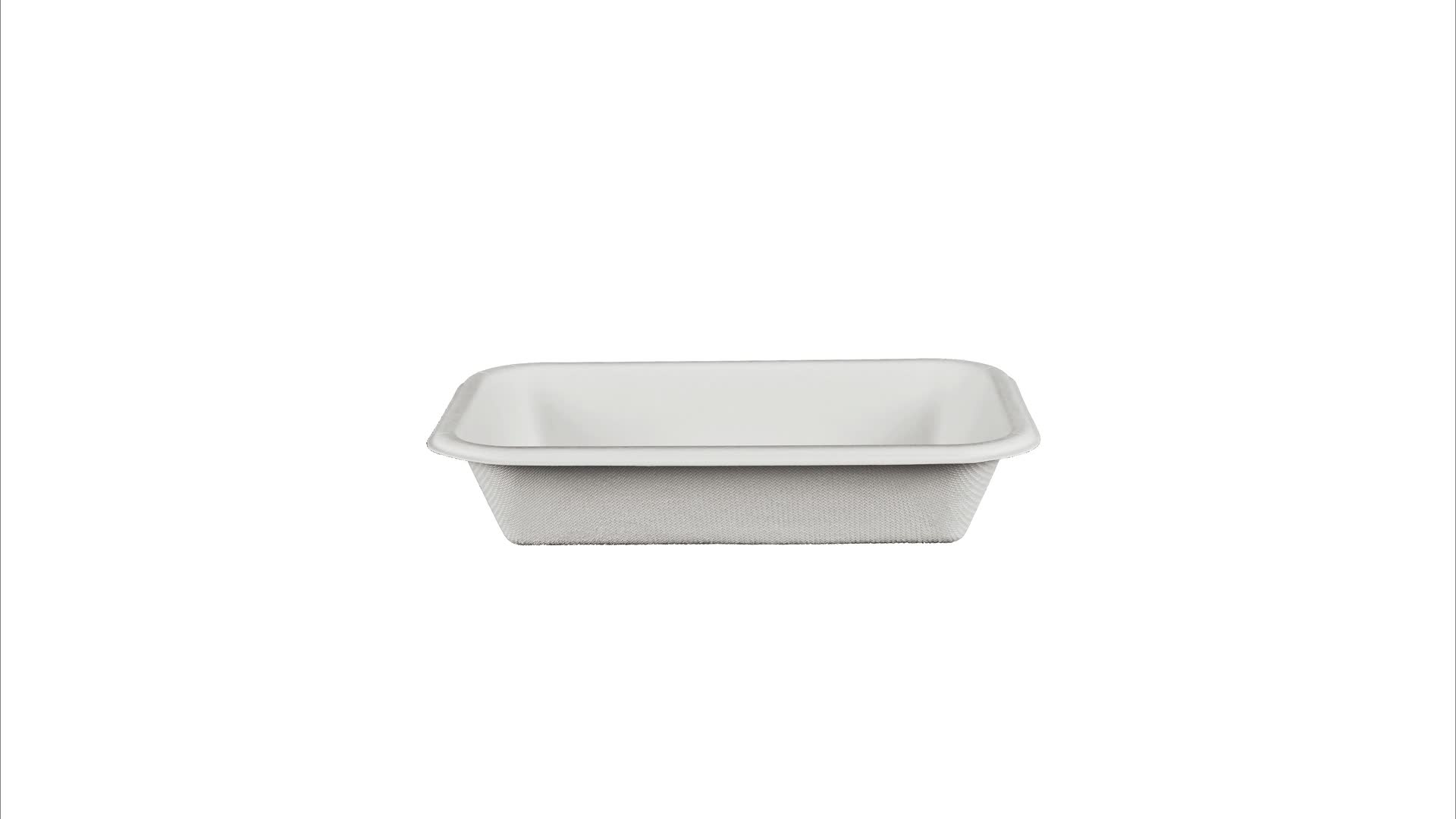 16oz Tray Biodegradable Sugarcane Meat Trays,Recyclable Packaging Paper Fruit Lunch Trays