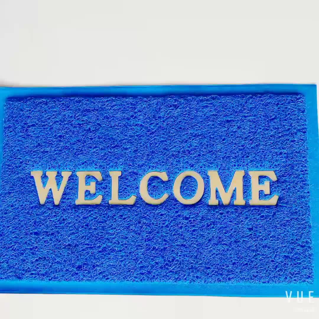 Custom anti slip plain pvc coil waterproof welcome floor mat