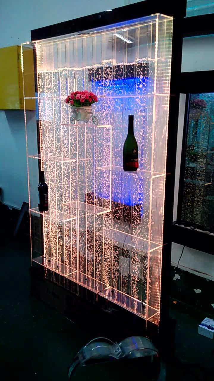 إطار مربع بمصباح أكريليكي خزانة مشروبات led فاخرة حسب الطلب