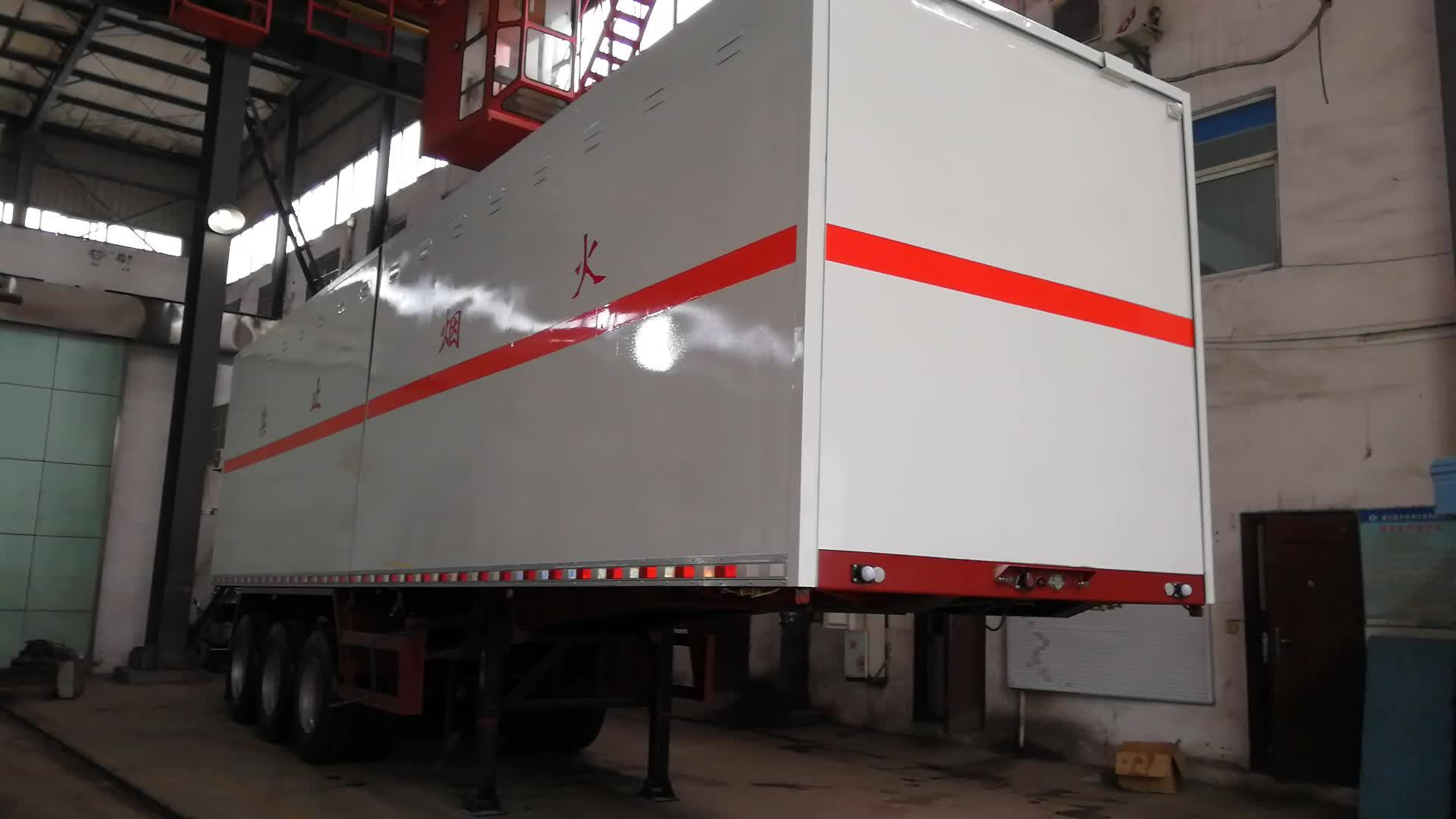 3 caja de ejes camión de carga ala Van apertura Semi remolque fabricante de fábrica