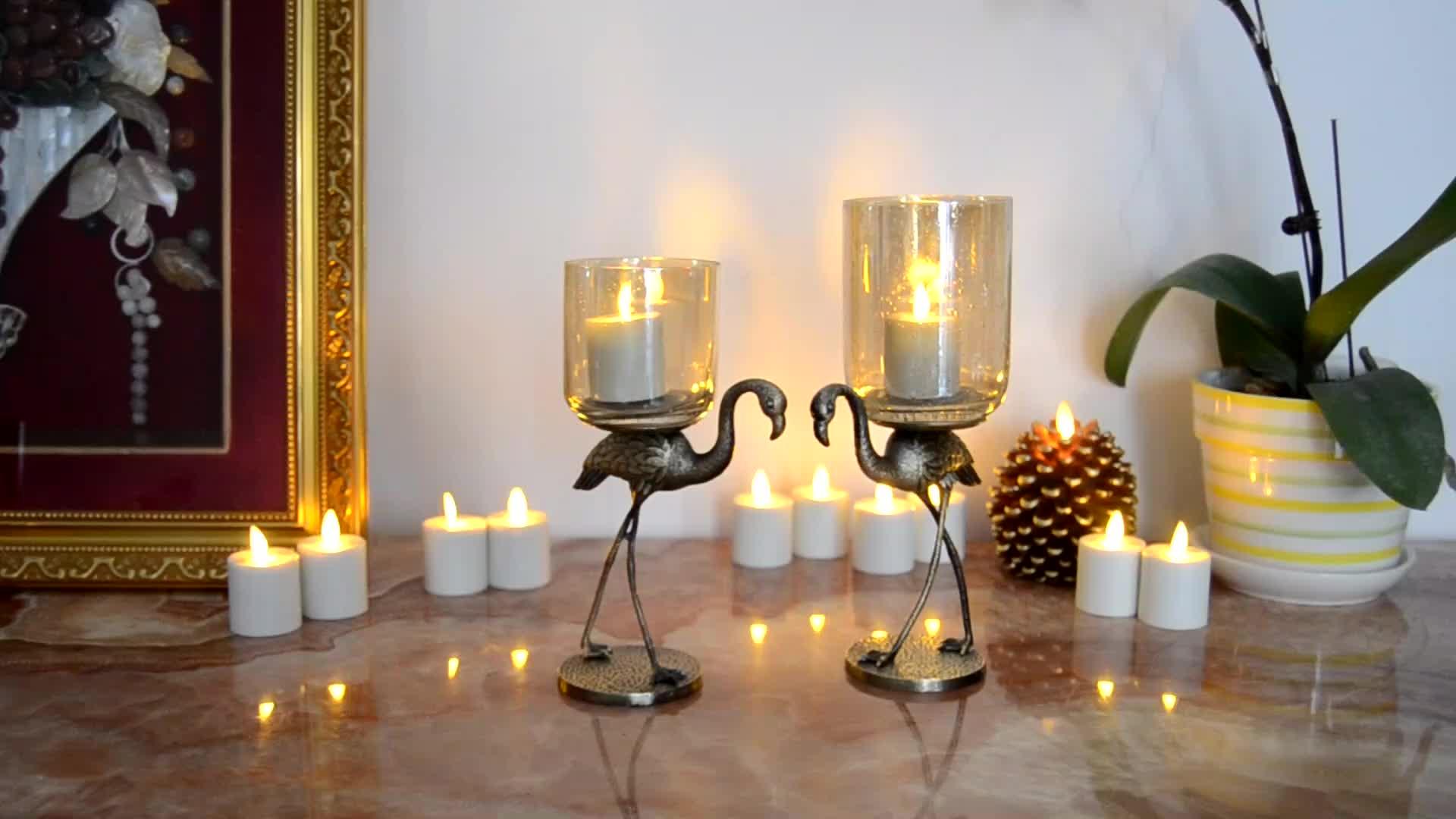 Alevsiz LED dekoratif mumlar pil ile çalışan kokusuz LED Tealight mumlar