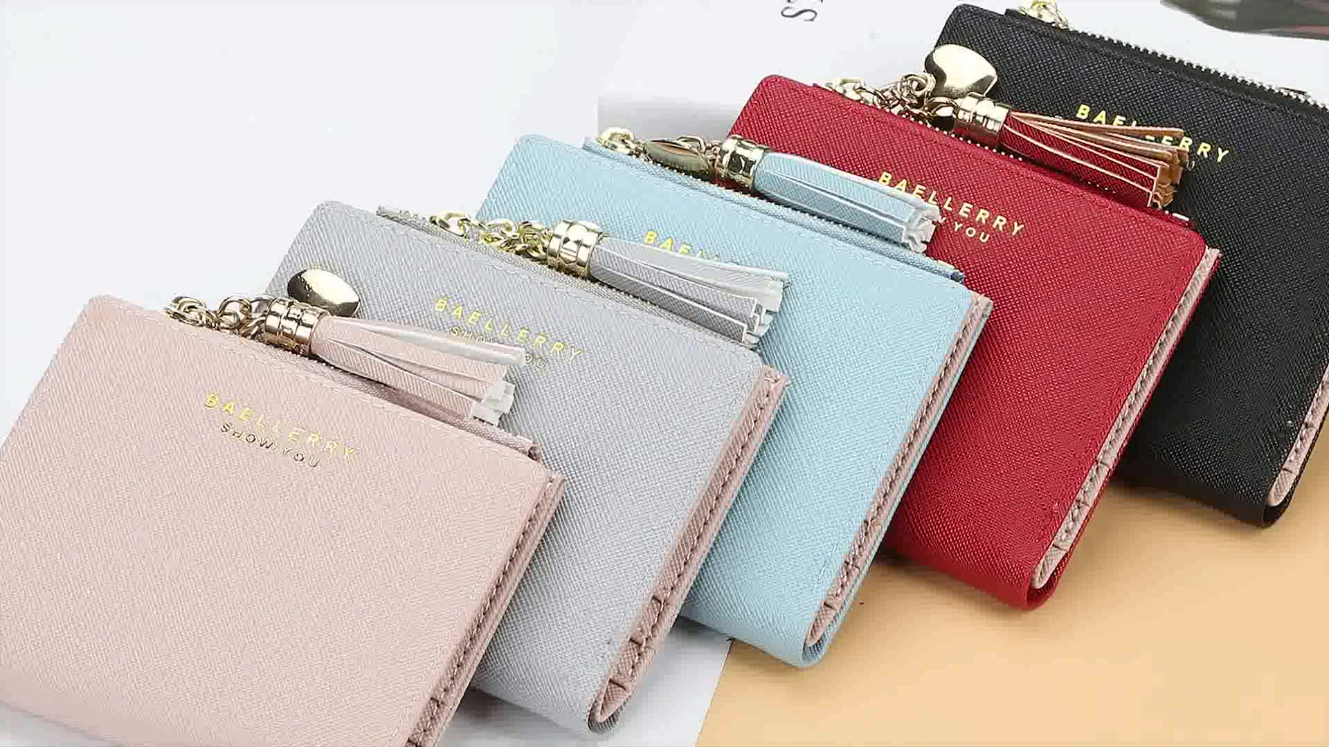 New Style Hot-selling Short Section Heart-shaped Metal Chain Zipper Wallet For Women Fashional  Lady Coin Purse Card Case