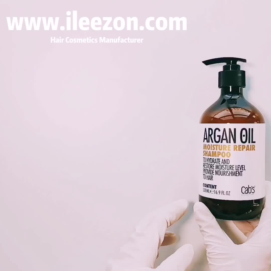 Private label high quality hair shampoo anti frizz Moisture repair argan oil hair shampoo