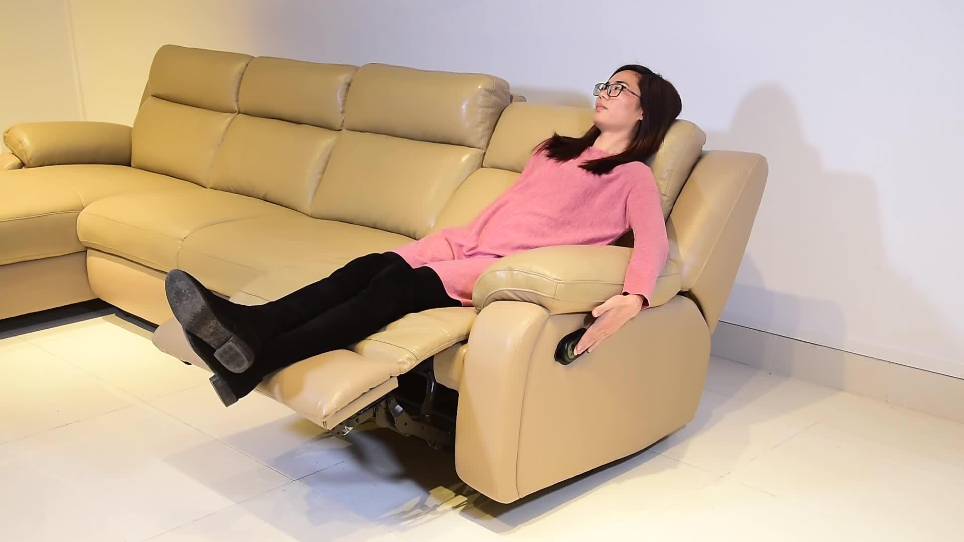 New l Shaped Sofa Designs, I Shape Sofa Cover, Modern Design Comfortable I Shaped Leather Recliner Sofa Set