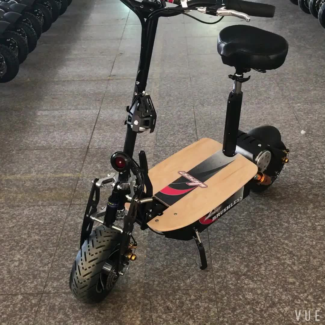 Adults Big Power Foldable TURBO 60V 2000W Two Wheel Electric Scooter with CE EEC