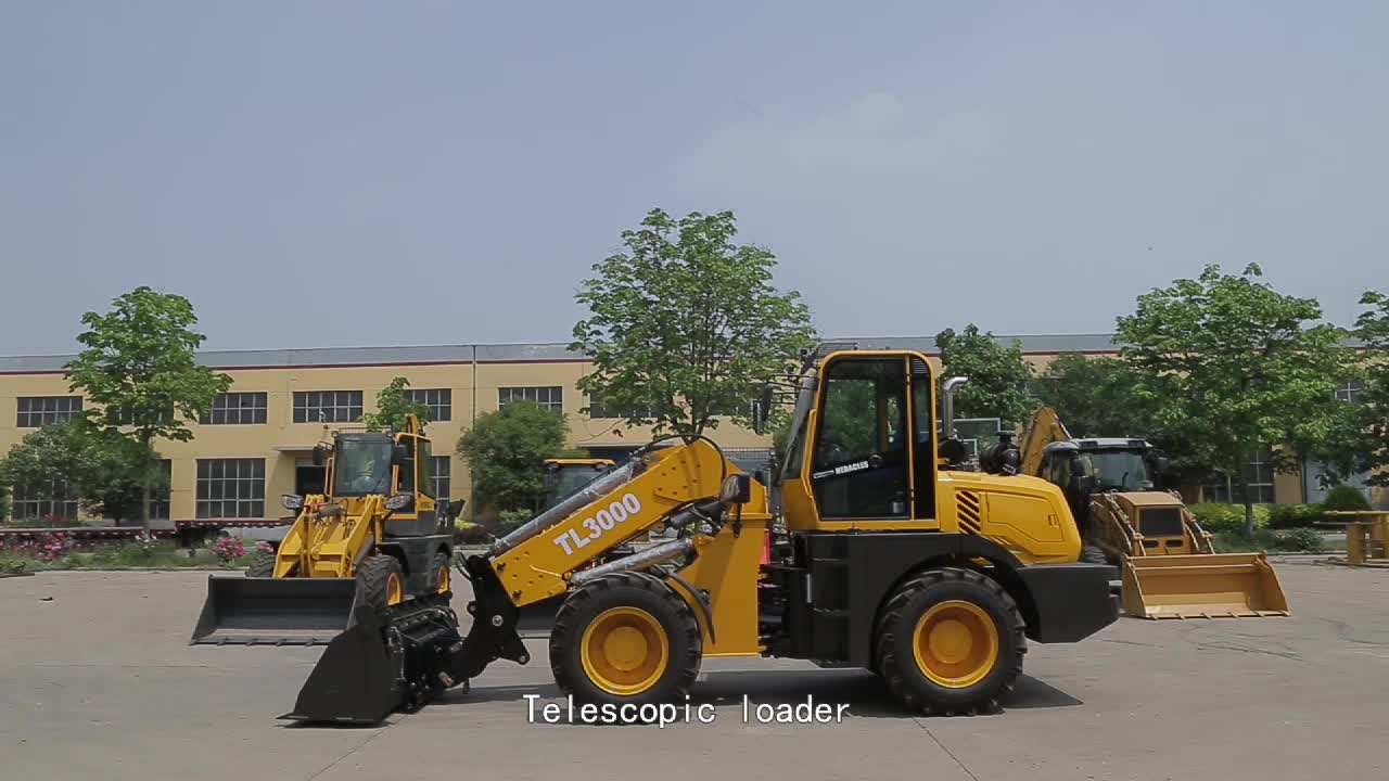 heracles machinery professional manufacturer tl3000 telescopic joystick wheel loader with price for sale