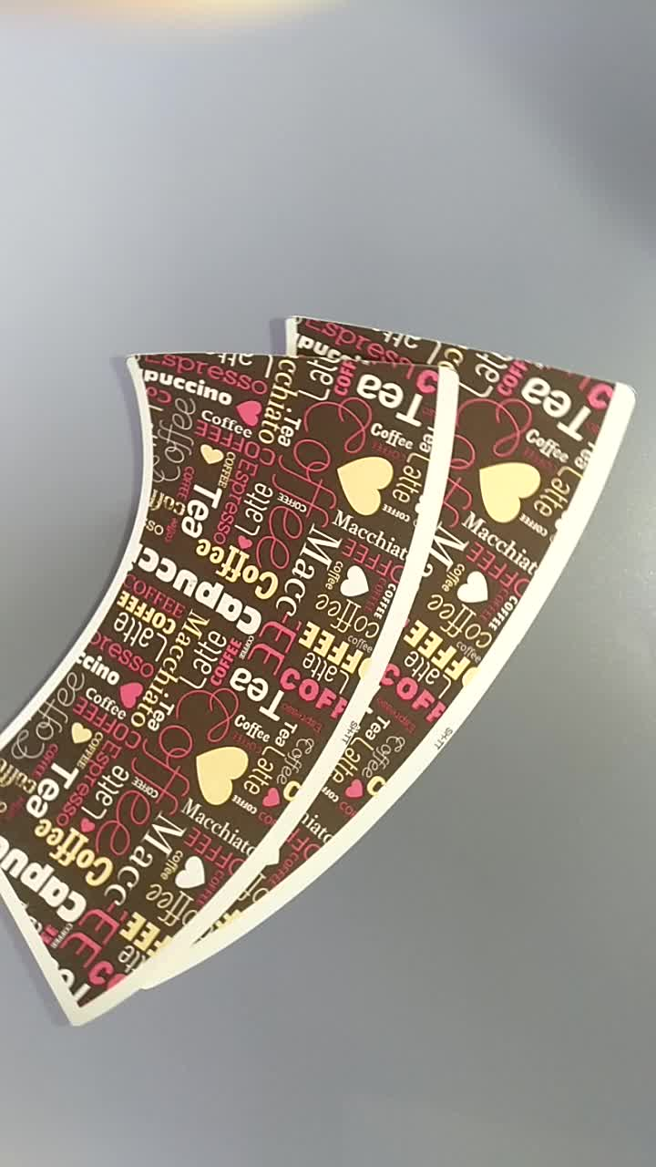 Sterben-cut Lebensmittel grade einweg einzelnen pe-beschichtetes papier tasse fan