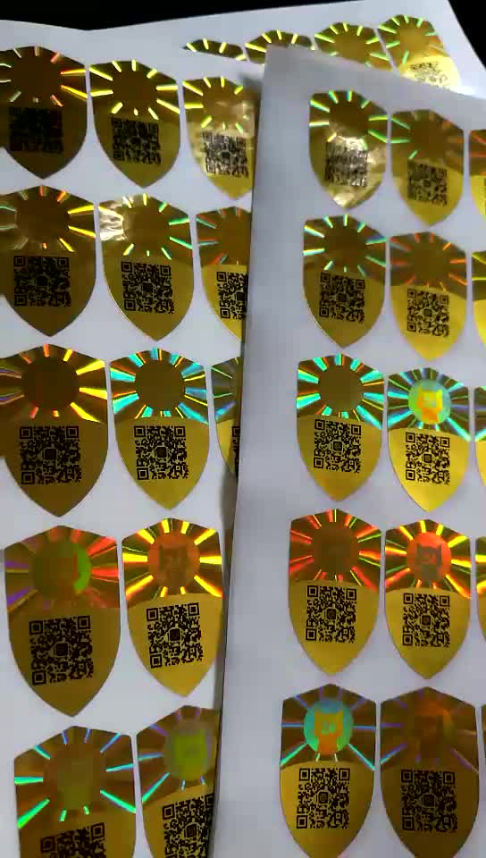 Cheapest barcode offset printing hologram ticket