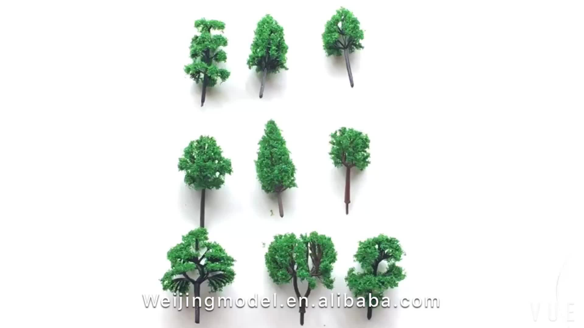 500 шт./лот архитектура N Z 1:1000 Масштаб Модель Миниатюрные зеленые деревья в 3,5 см Для ho поезд макет