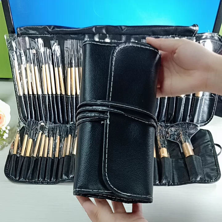 32 pièces femmes liège maquillage brosse avec beau sac