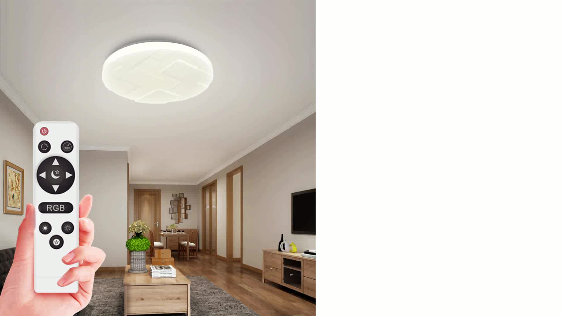 Wall Mounted Ceiling Light Wireless Control Ceiling Lamp with Colorful Lights Design Lighting Plafonnier Led Room Light 2.4G