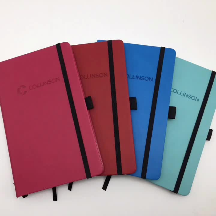 hardcover notebook with pen loop,personalized hardcover notebook