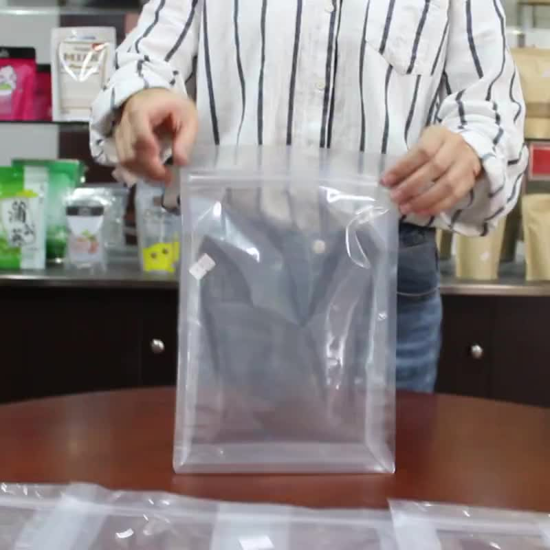 14*24 Custom Transparent 8 Side Seal Clear Plastic Zipper Pouch For Food Ziplock Nuts Packaging Bag