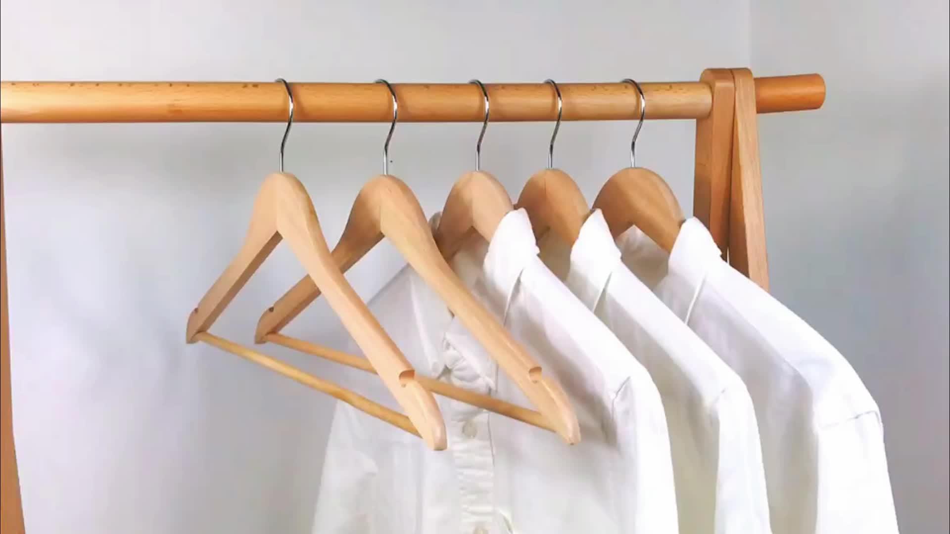 עץ חליפת בגדי קולבי חולצה מעיל מעיל שמלה