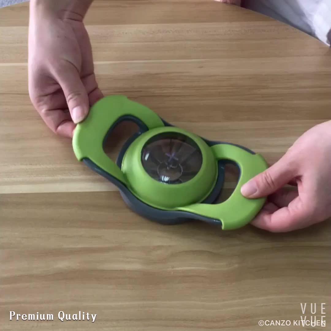 Dụng Cụ Nhà Bếp Phong Cách Mới Thép Không Gỉ Apple Cutter / Corer Slicer Với Pusher