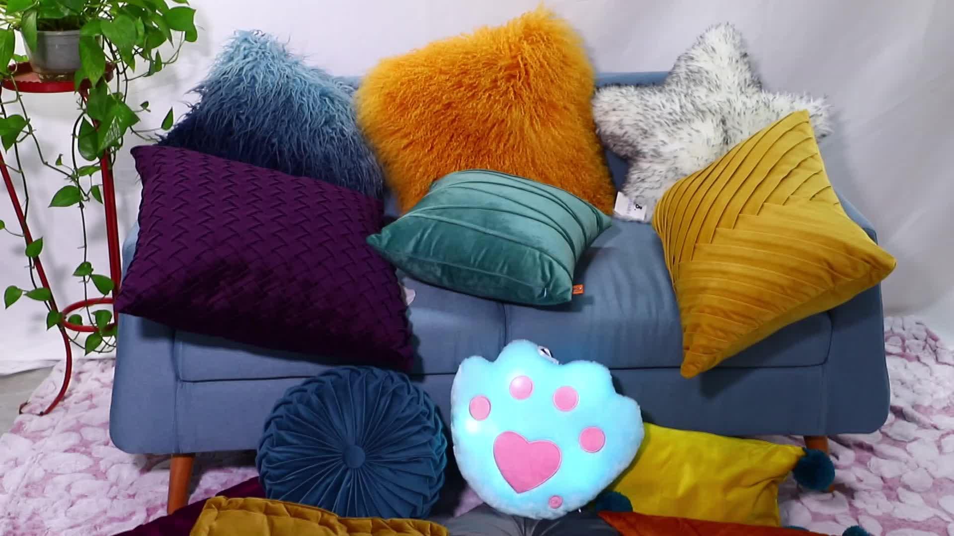 De moda de terciopelo cojín decoración del hogar cojines de asiento