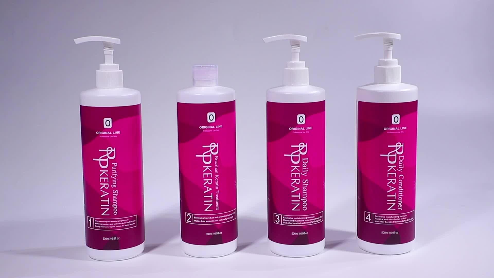 Private Label  Keratin Hair Treatment Keratin Daily Shampoo And Conditioner