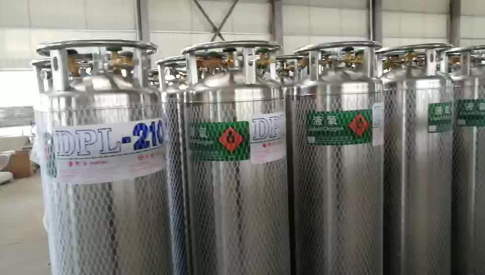 Kriyojenik sıvılaştırılmış gaz tüpleri sıvı oksijen deposu
