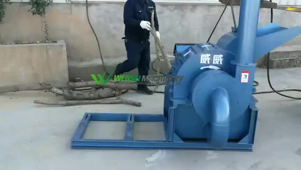 Weiwei 420-3 sawdust machine crusher for baomass wood pelllet