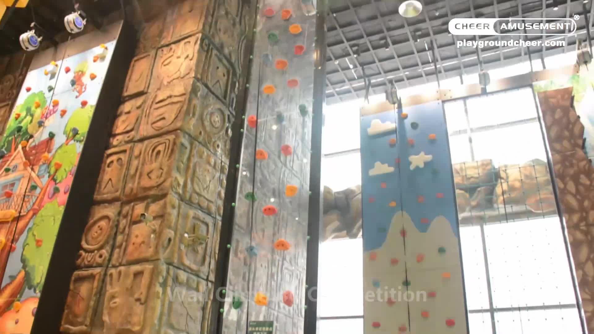 Cheer Divertimenti Albero A Tema di Roccia Parete di Arrampicata per I Bambini Attrezzature Parco Giochi Al Coperto
