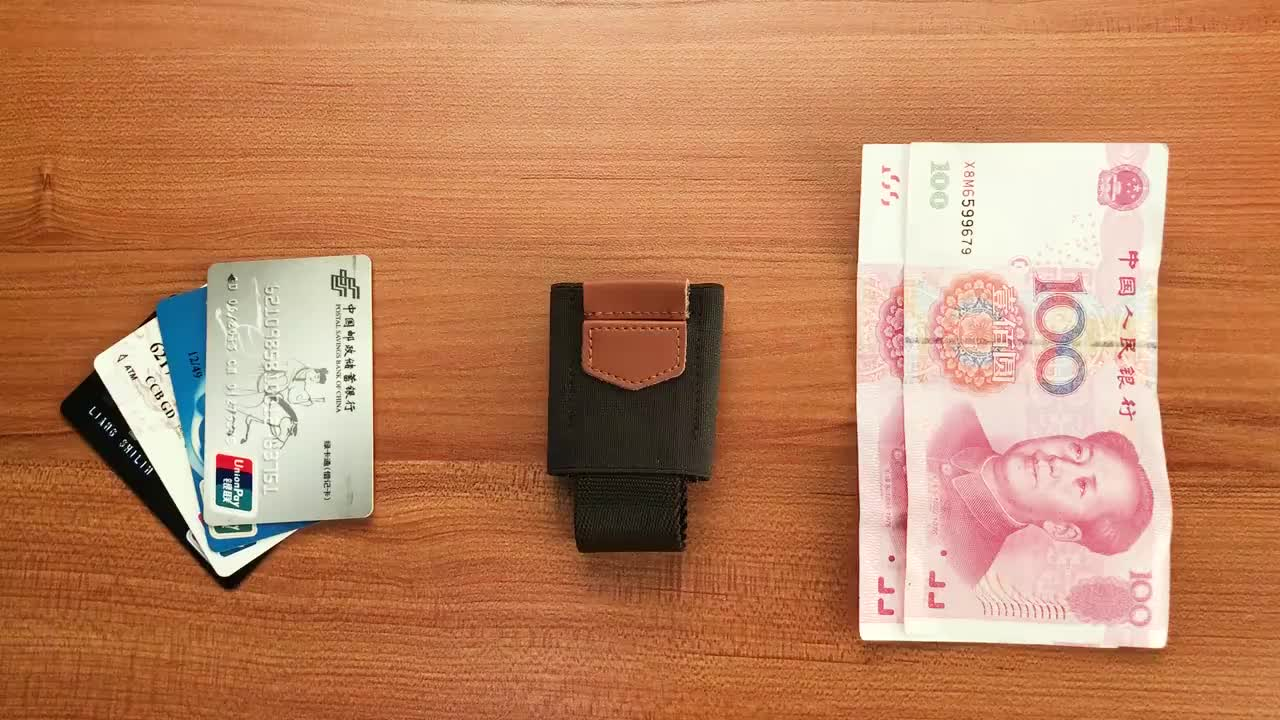 Hot sale Leather Credit Card Holder and Money Clip Wallet