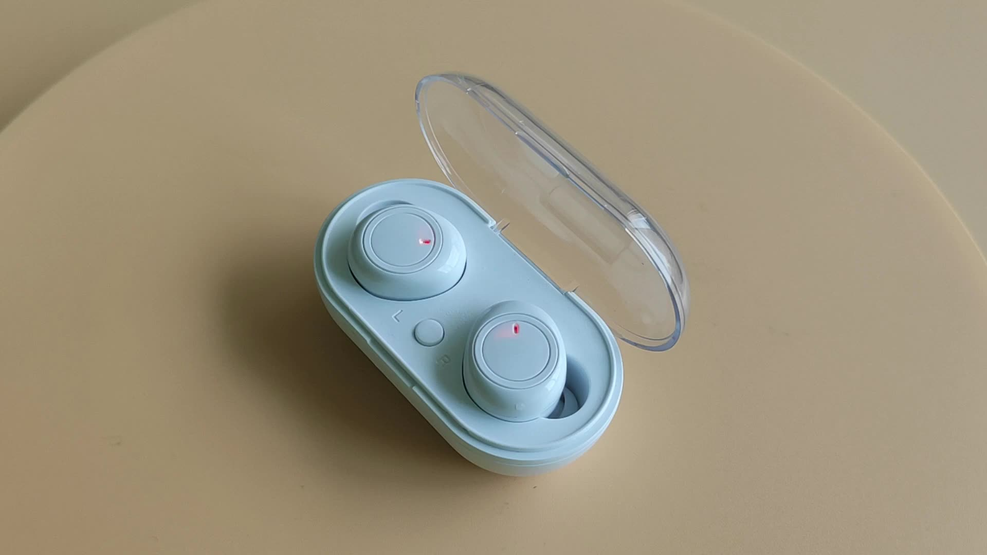 V5.0 Soutien Double Appel Stéréo Écouteurs intra-auriculaires Mini Oreillette Bluetooth Sport Sans Fil Écouteurs