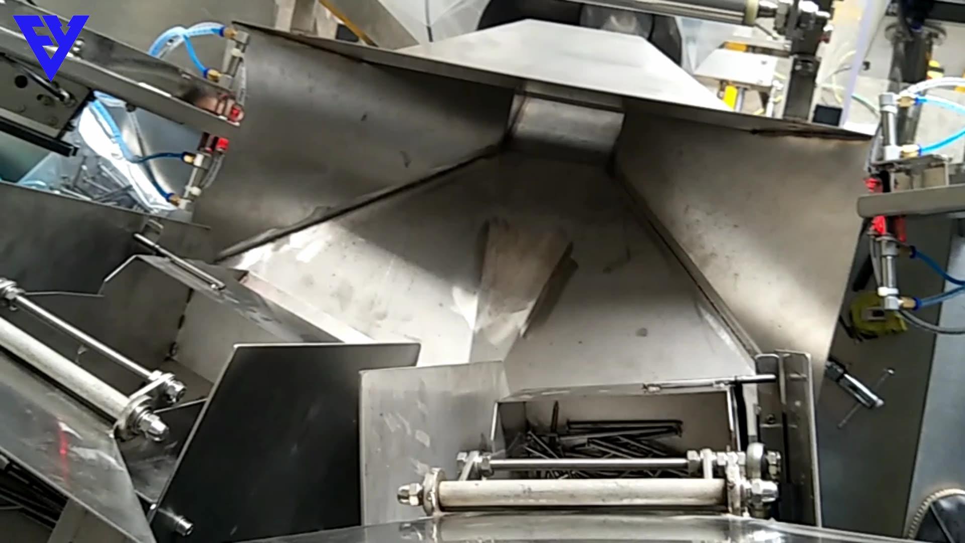 Máquina de embalaje de pesaje vertical automática para uñas