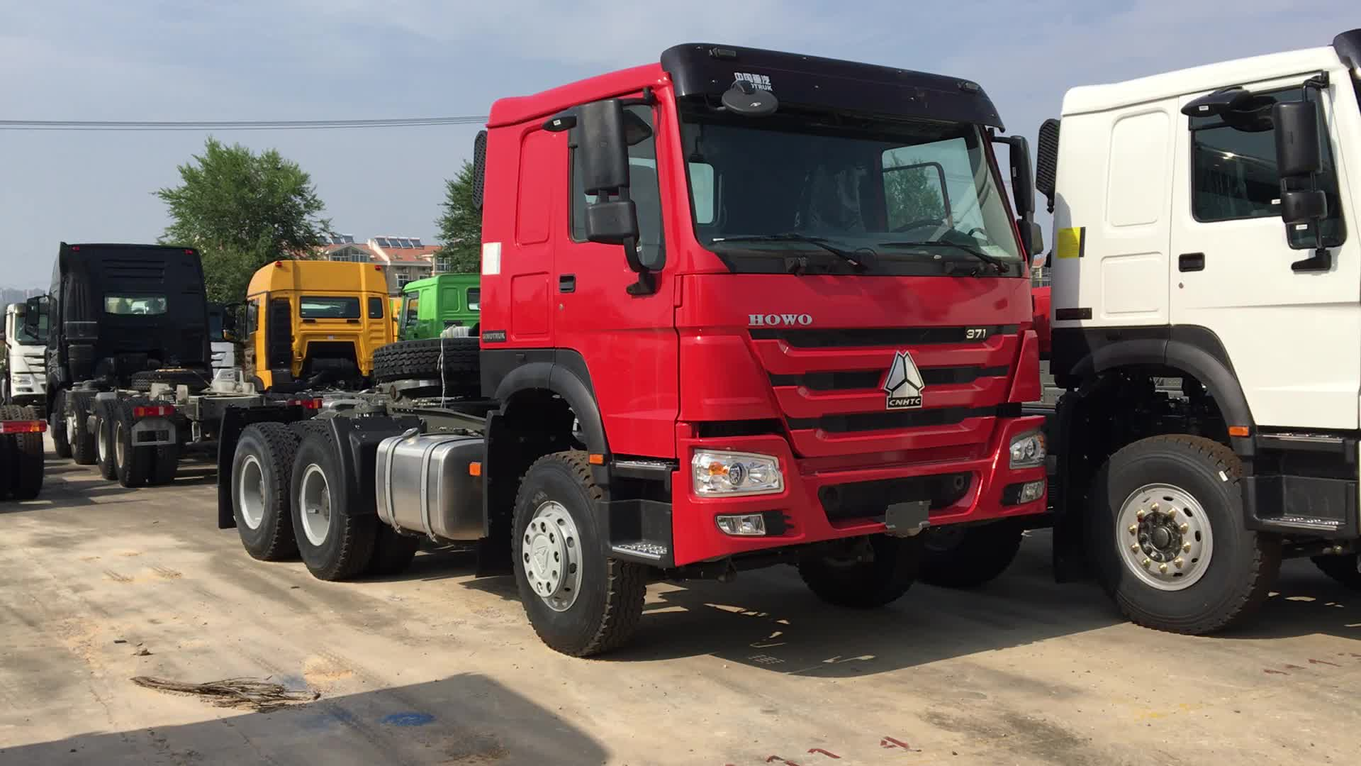 80 ตัน 336hp SINOTRUCK SINOTRUK 420hp ที่ใช้ HOWO รถบรรทุกรถบรรทุกหัวซูดาน HOWO รถบรรทุกราคา