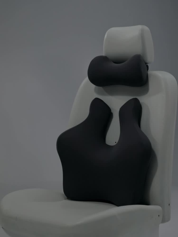 Almohada de espuma viscoelástica para asiento de coche, almohada para reposacabezas de coche