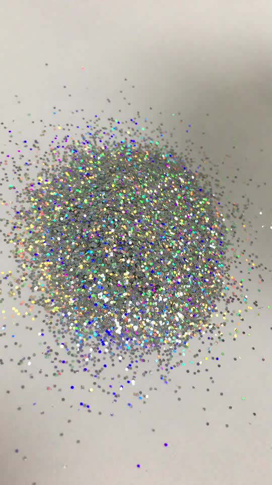 Wholesale and Retail loose Holographic Polyester chunky Glitter Powder bulk 1kg MOQ shinning color glitter