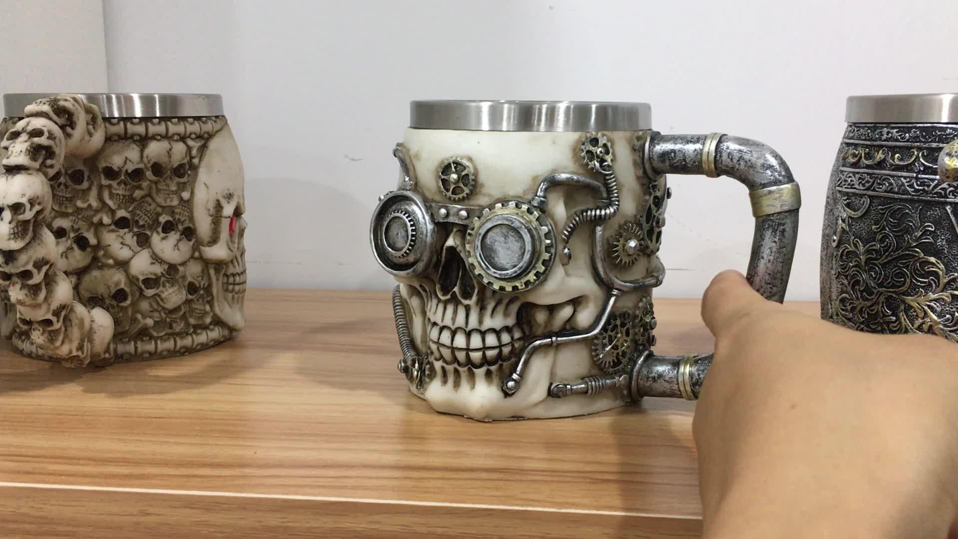 The Newest Resin 3D Skeleton Cup Mug Drinking Skull Mug for Party