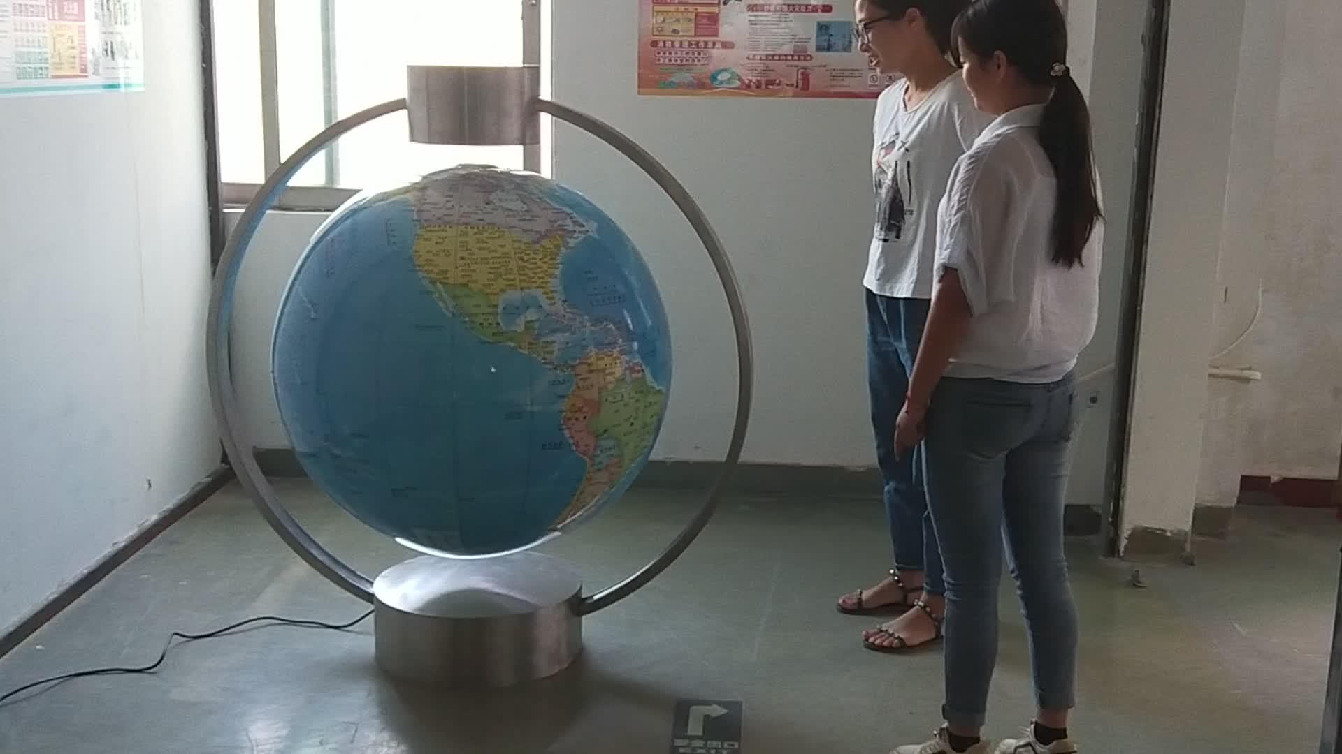スーパーサイズプロモーションリニアモーターカー浮上地球儀/マジック地理教育ツール、グローブ直径 100 センチメートル