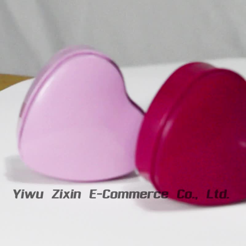 Custom Size Festival Small Gift Box Heart Shape Gold Tin Box
