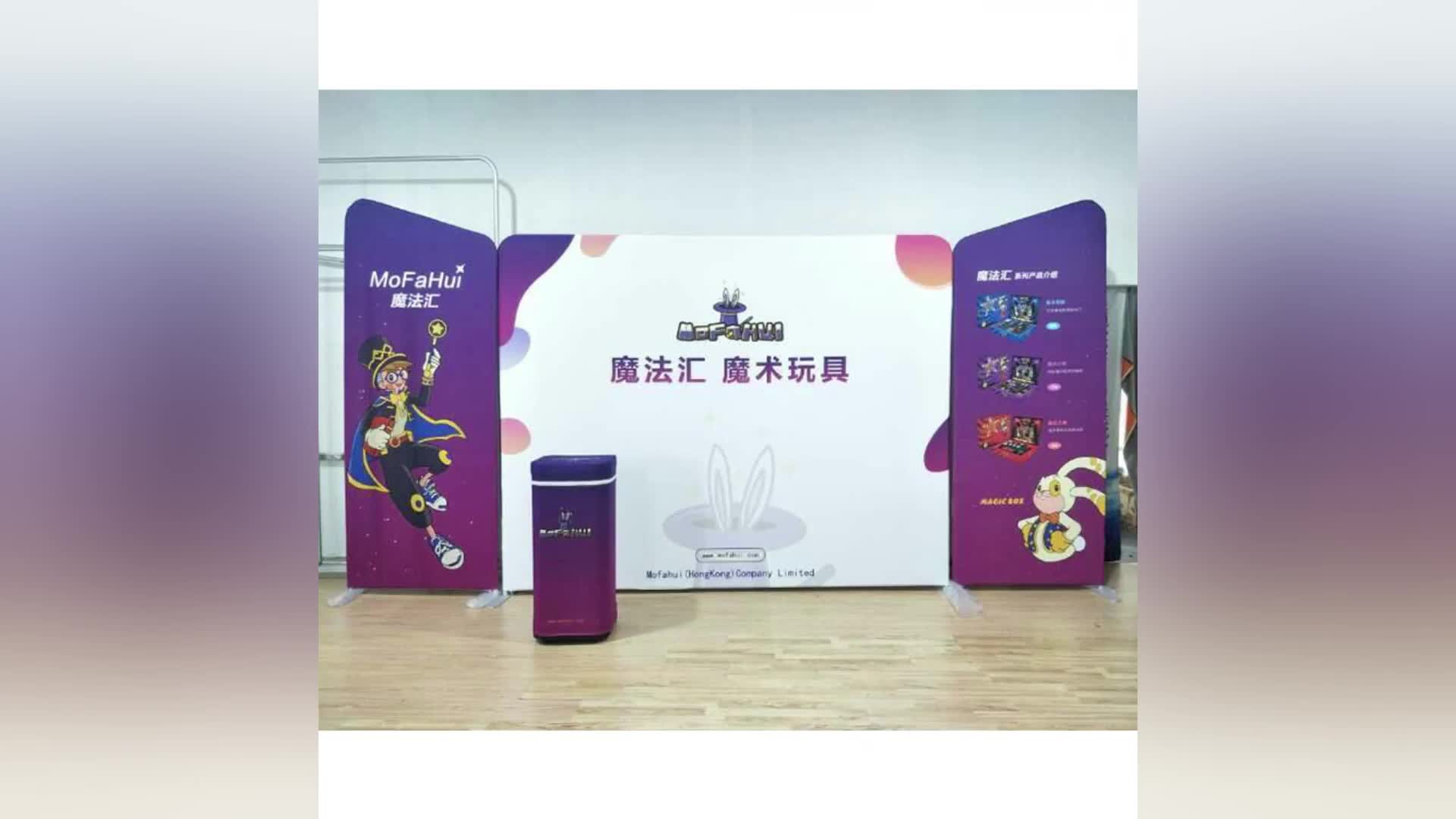 Hot sale easy setup custom design aluminum design 3x6 exhibition booth for trade show booth