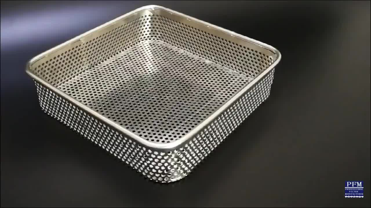40x60x4cm Stainless steel perforated baking tray